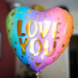 Ballon Love You Pastel